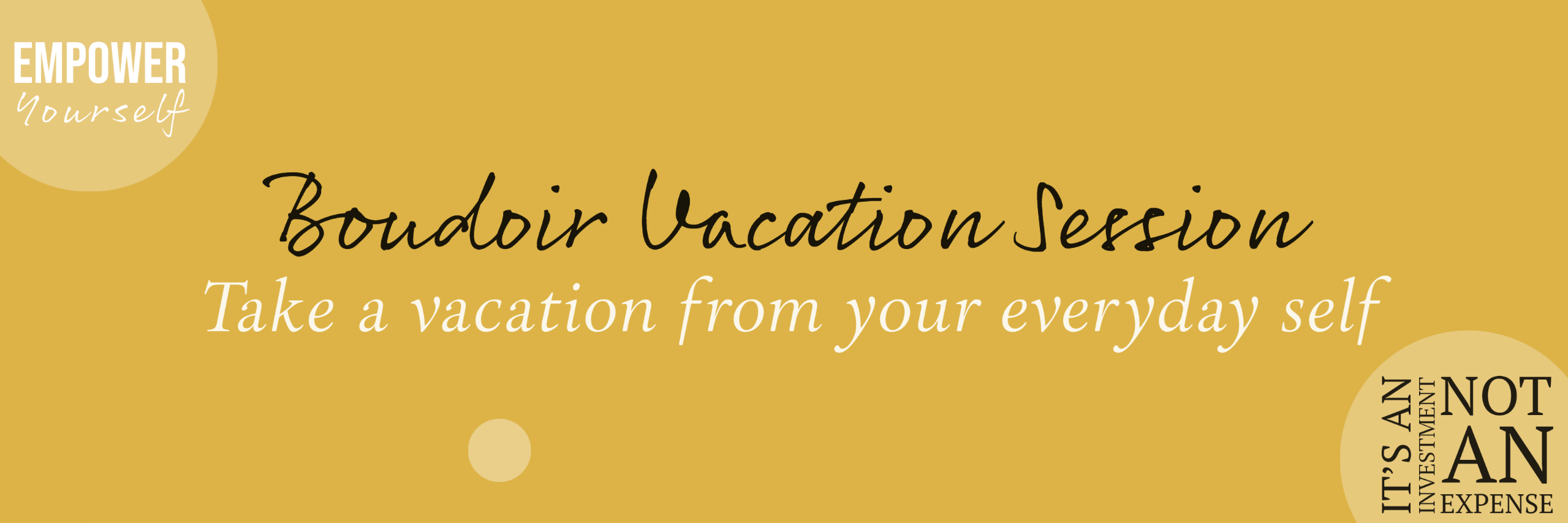 Boudoir Vacation Session - Take a vacation from your everyday self